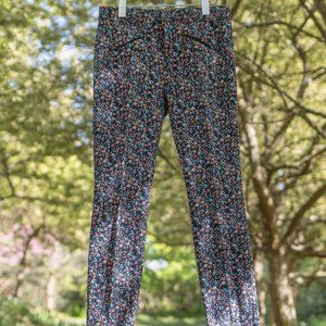 GAP Skinny Ankle Floral Pants Size 4